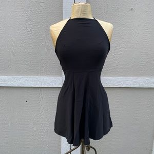 Brandy Mellville Sleeveless Black Dress